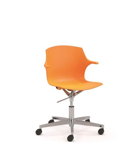 Frill SW wielen - kunststof stoel in hoogte verstelbaar met wielen-2