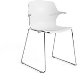 Frill SL - kunststof kantine stoel met slede frame