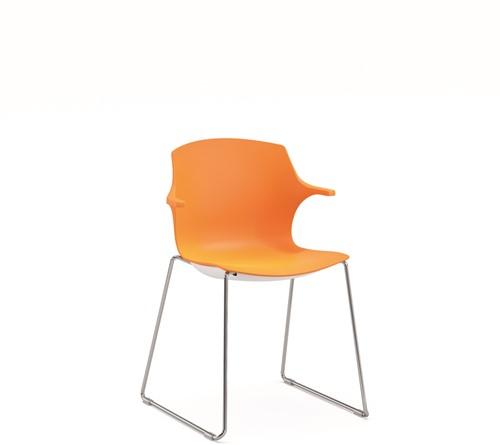 Frill SL - kunststof kantine stoel met slede frame-2