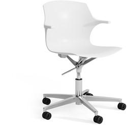 Frill SW wielen - kunststof stoel in hoogte verstelbaar met wielen