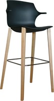 Frill Stool with wooden frame