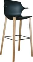 Frill Wood kruk- kunststof kruk met houten frame en armleggers