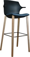 Frill Stool with wooden frame-3