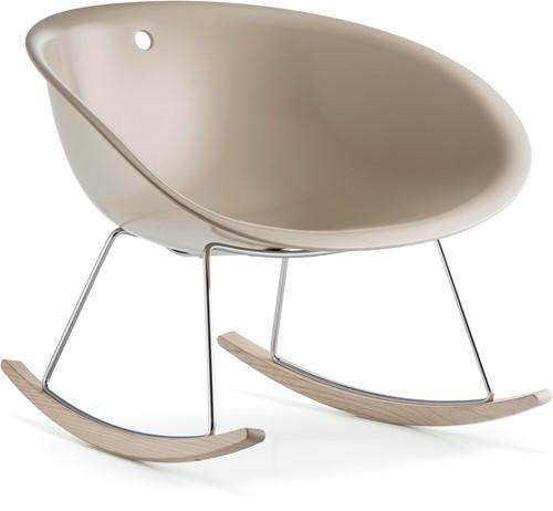 Gliss 350 lounge - kunststof lounge fauteuil / schommelstoel. FSC 100% gecertificeerd