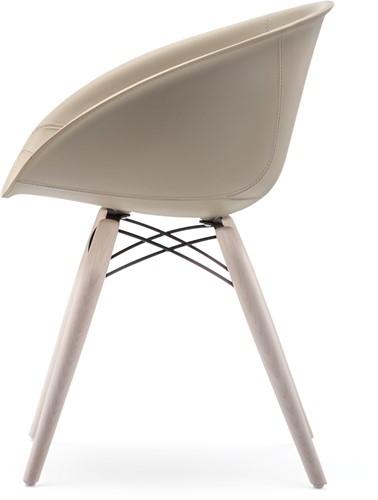 Gliss 904/ 905 - kunststof kuipstoel met houten poten. FSC 100% gecertificeerd-2