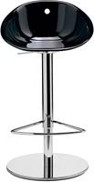 Gliss 970 - kruk op kolomvoet met kunststof zitting,  in hoogte verstelbaar-2