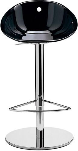 Gliss 970 - kruk op kolomvoet met kunststof zitting,  in hoogte verstelbaar