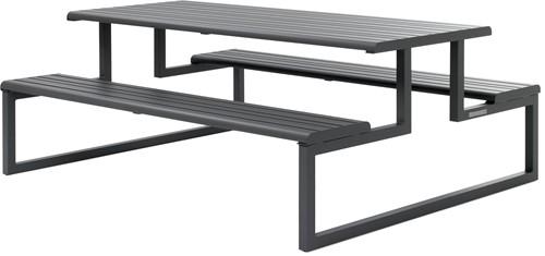 Urbantime.h24 picknick - Tafel van gepoedercoat staal