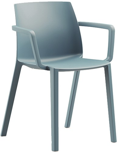 Habitat Armstoel- kunststof school- / kantine stoel met armleggers