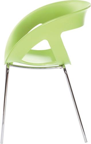 Hammer - Stoel met een kunststof zitschaal en een metalen frame-2