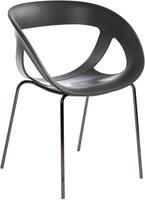 Hammer - Stoel met een kunststof zitschaal en een metalen frame