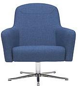 Havana Low draaibaar - gestoffeerde lounge stoel / fauteuil op kruisvoet-3