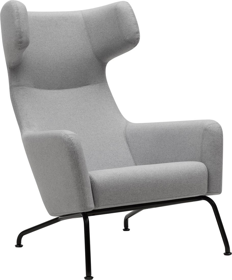 Uitgelezene Havana oorfauteuil - gestoffeerde lounge stoel/ fauteuil - ZWART KI-53