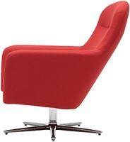 Havana Low draaibaar - gestoffeerde lounge stoel / fauteuil op kruisvoet-2