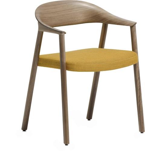 Héra 2865 - houten stoel met stoffering