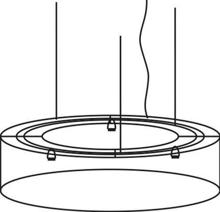 FP-HL 100/30 - verlichtingselement met stoffen lampenkap 100 cm doorsnede, optioneel te voorzien van blender
