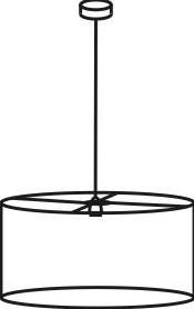 FP-HL 50/30 - verlichtingselement met stoffen lampenkap 50 cm doorsnede, optioneel te voorzien van blender