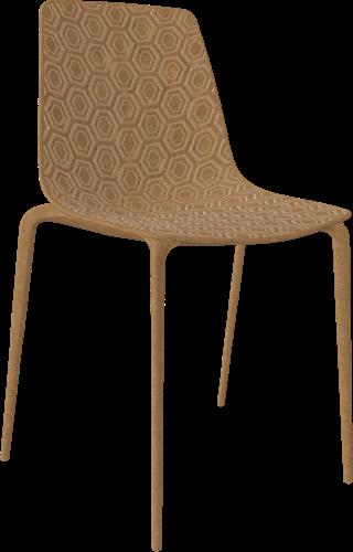 Honey Eco - volledig gerecylede vierpootsstoel - hout pulp