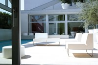 Host 790 - fauteuil met geborsteld rvs frame, zit polyethyleen-3