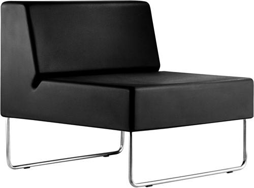 Host 790 - fauteuil met geborsteld rvs frame, zit polyethyleen