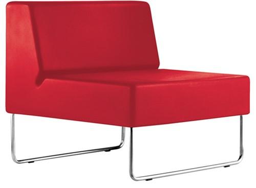 Host 790 - fauteuil met geborsteld rvs frame, zit polyethyleen-2