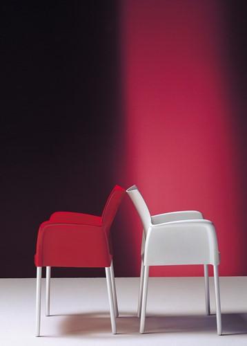 Ice 850 - kunststof terras / kantine stoel met armleggers-3