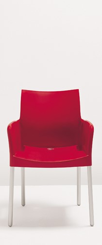 Ice 850 - kunststof terras / kantine stoel met armleggers-2