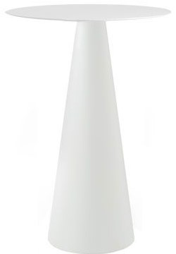 Ikon 110 - kunststof kegelvormige (outdoor) statafel met rond of vierkant blad