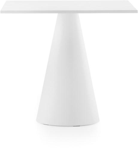 Ikon 73 - kunststof kegelvormige (outdoor) tafel met een rond of vierkant blad