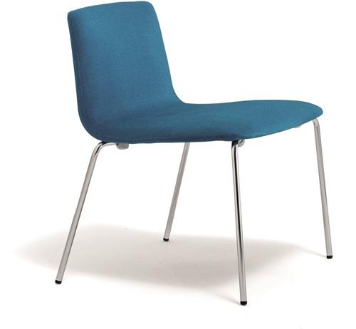Inga 5681 - gestoffeerde lounge stoel, wachtstoel, vierpootframe