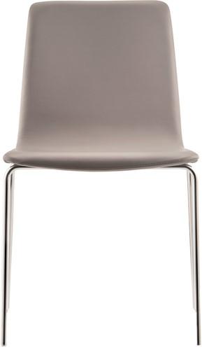 Inga 5689 - gestoffeerde stoel op sledeframe, stapelbaar, comfortabel