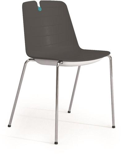 Iris - kunststof school / kantine stoel-2