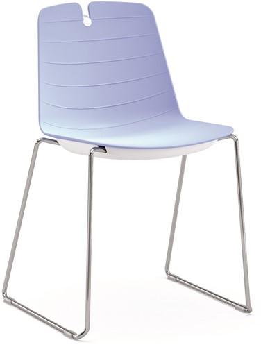 Iris SL - kunststof school / kantine stoel met sledeframe