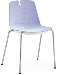 Iris - kunststof school / kantine stoel