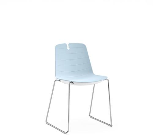 Iris SL - kunststof school / kantine stoel met sledeframe-3