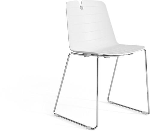 Iris SL - kunststof school / kantine stoel met sledeframe-2