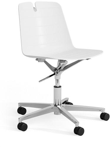 Iris SW - kunststof stoel in hoogte verstelbaar op wielen