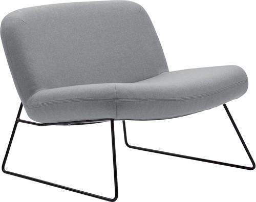 Java - Lounge fauteuil met sledeframe - ZWART (NE) - Felt melange - 642 Roze