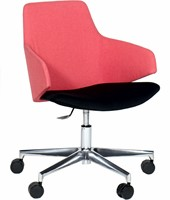 Jessie 4705/2 - Verrijdbare stoel met gaslift en gepolijst voetenkruis