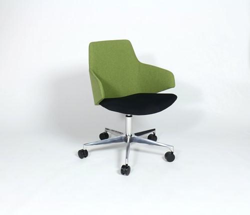 Jessie 4705/2 - Verrijdbare stoel met gaslift en gepolijst voetenkruis-2