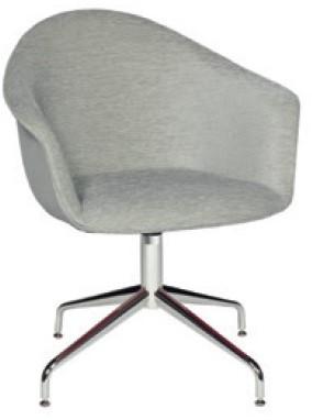 Jet Pure 025 - draaibare gestoffeerde stoel met chroom spiderframe