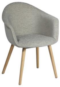 Jet Pure 097 - gestoffeerde bezoekers stoel met massief houten poten