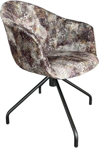 Jet Pure 103 - draaibare gestoffeerde stoel met zwart spiderframe