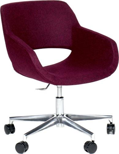 Jolie 4502/2 - Bureaustoel met rondom gestoffeerde zitschaal