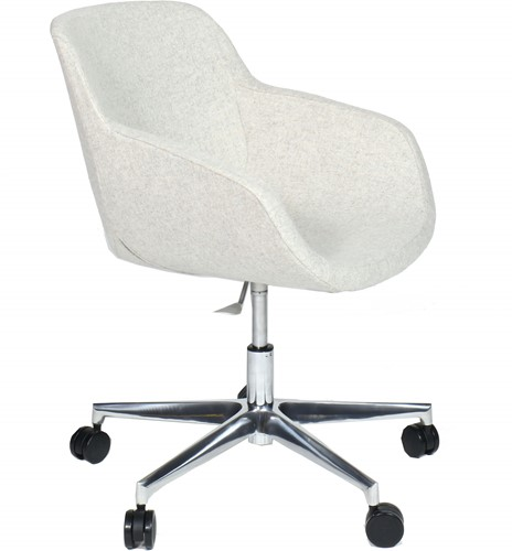 Julia 4402/2- Bureaustoel met rondom gestoffeerde zitschaal