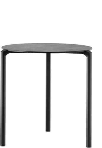Jump TJ3 - stapelbare 3-poots (outdoor) kantine tafel met een rond volkern blad