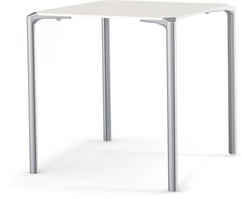 Jump TJ4 - stapelbare 4-poots (outdoor) kantine tafel met een vierkant volkern blad