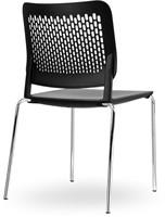 S490 - stapelbare kunststof kantine stoel met geperforeerde rug-3