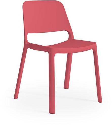 Kasper - kunststof school/ kantine stoel - Rood (RO)