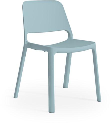 Kasper - kunststof school/ kantine stoel - Blauw (BL)
